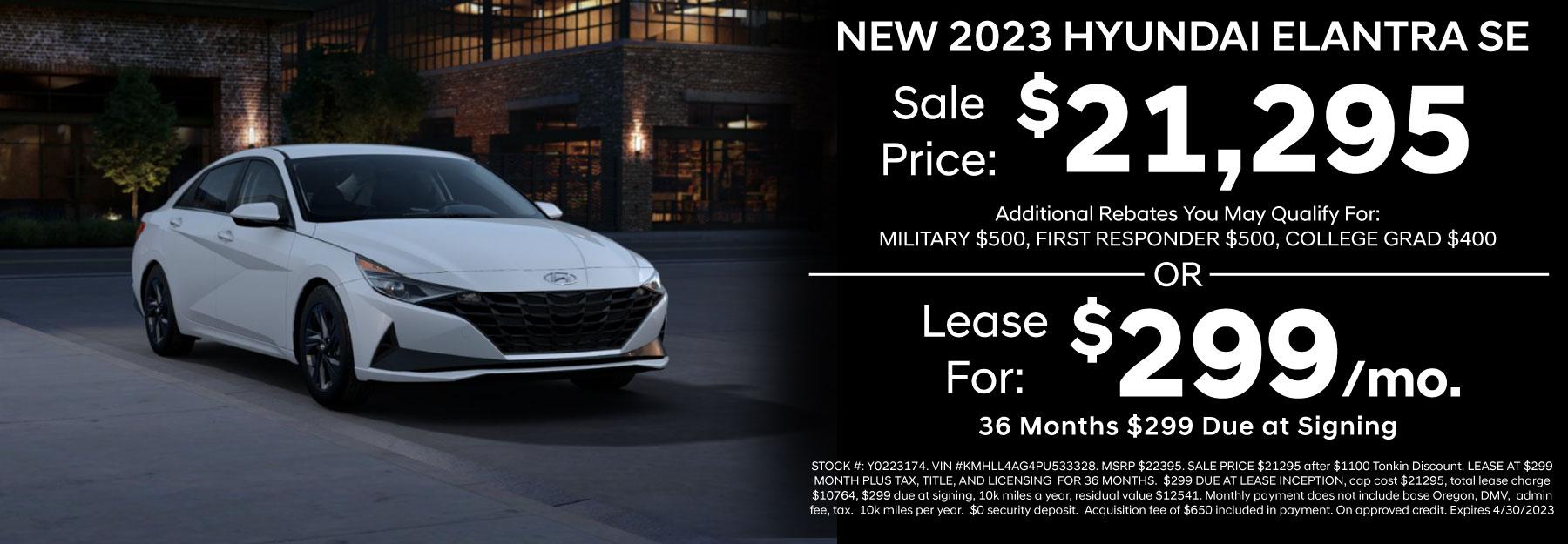 Hyundai Elantra Retail Special