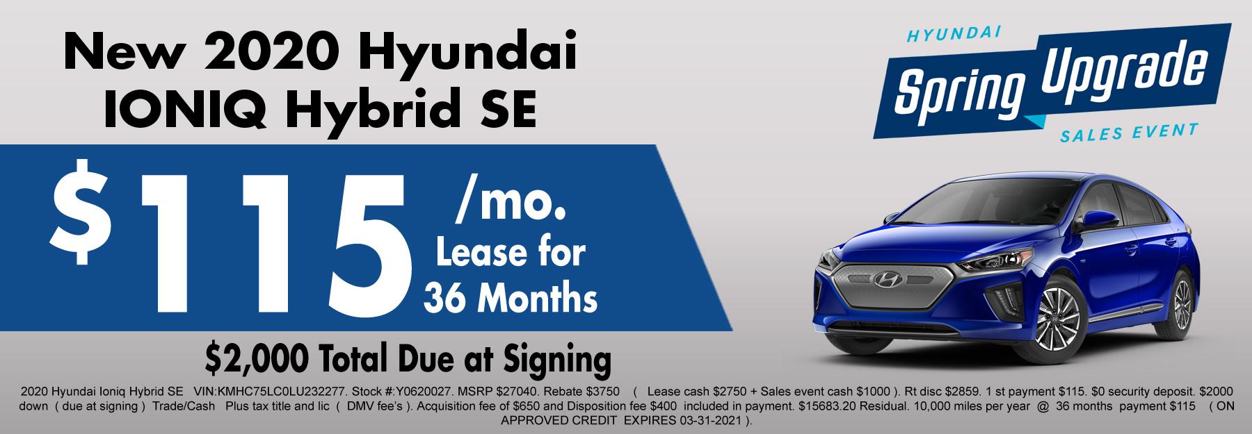 New Hyundai Ioniq Special
