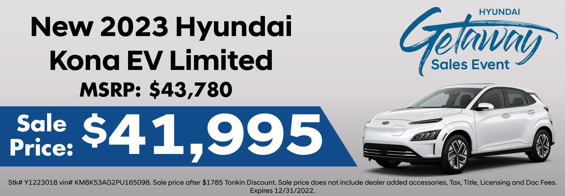New Hyundai Kona EV Special