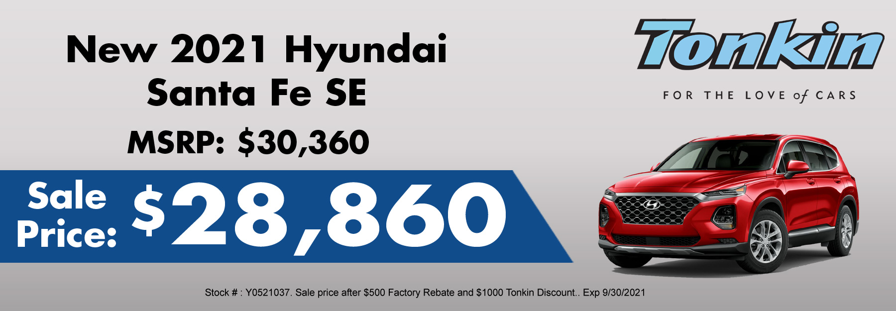 New Hyundai Santa Fe Special