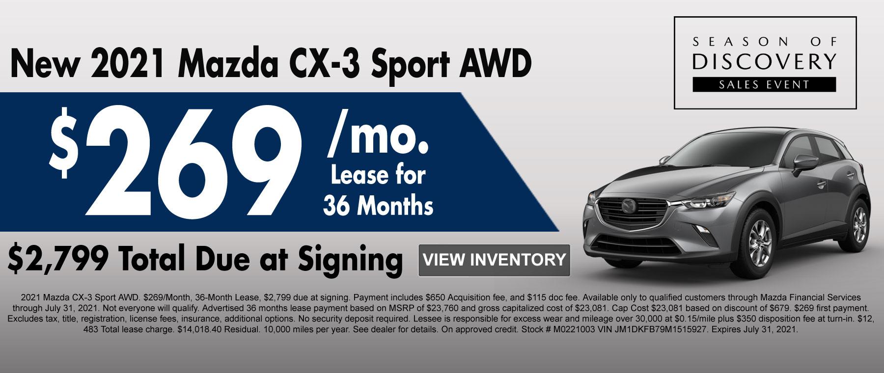 New 2020 Mazda CX-3 AWD Special