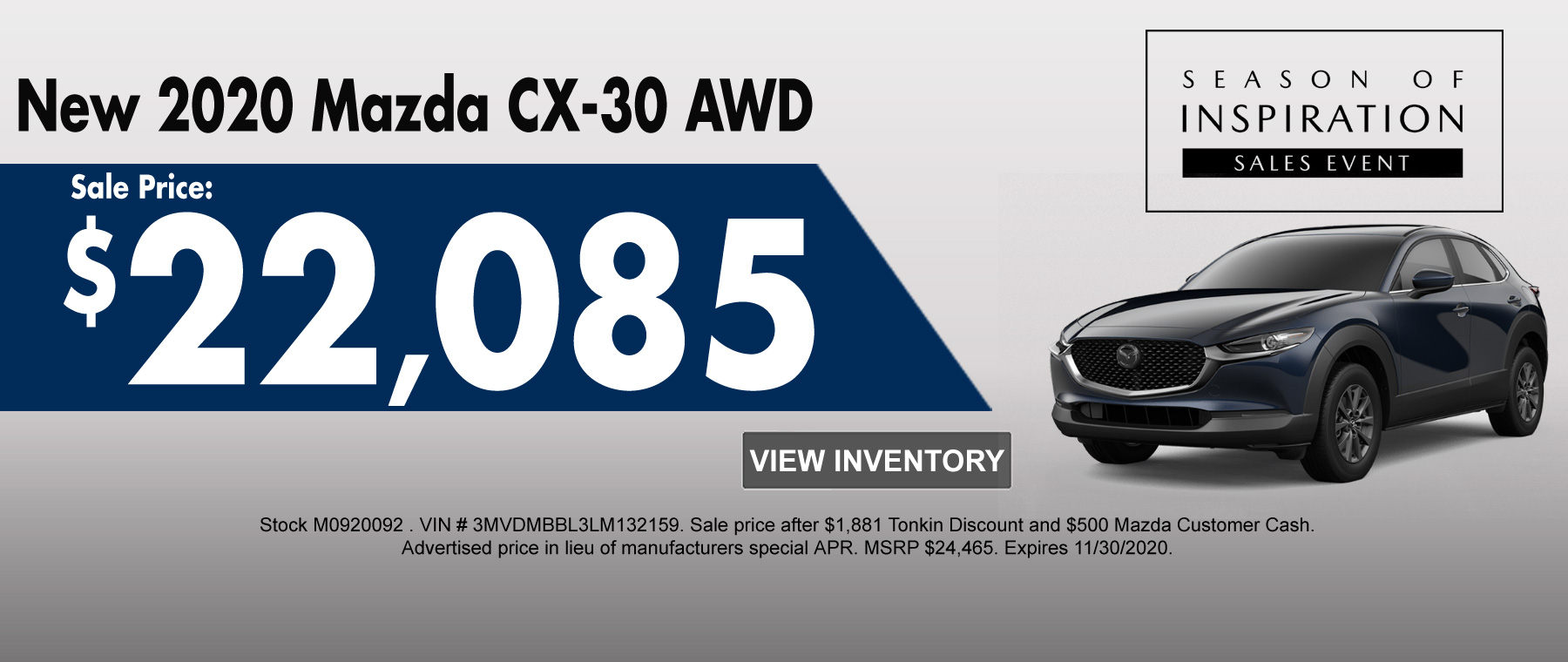 New 2020 CX-30 AWD Special