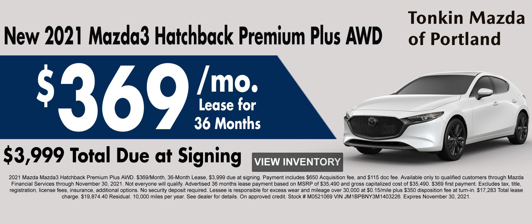 New 2020 Mazda3 Hatchback AWD Special