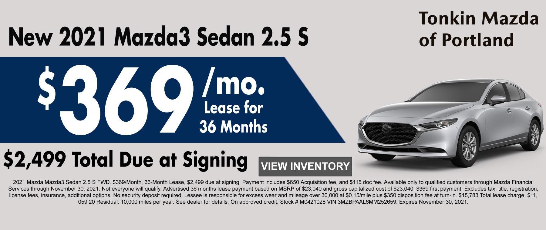 New 2020 Mazda3 Sedan AWD Special
