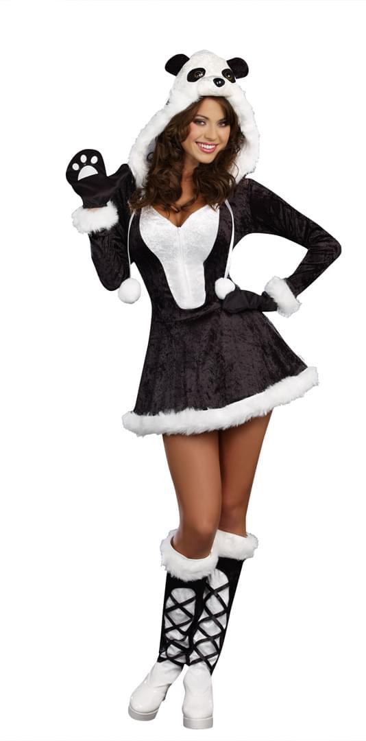 Sexy panda bear costume