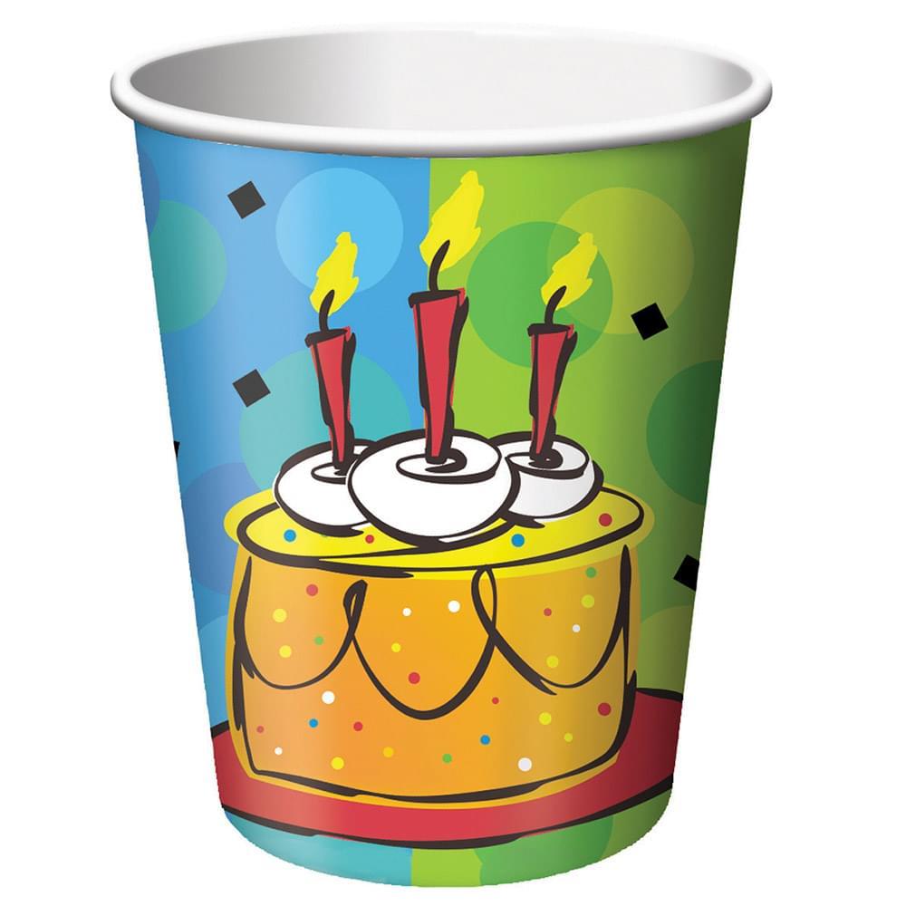8 Pack 9Oz Cups Cake Celebration