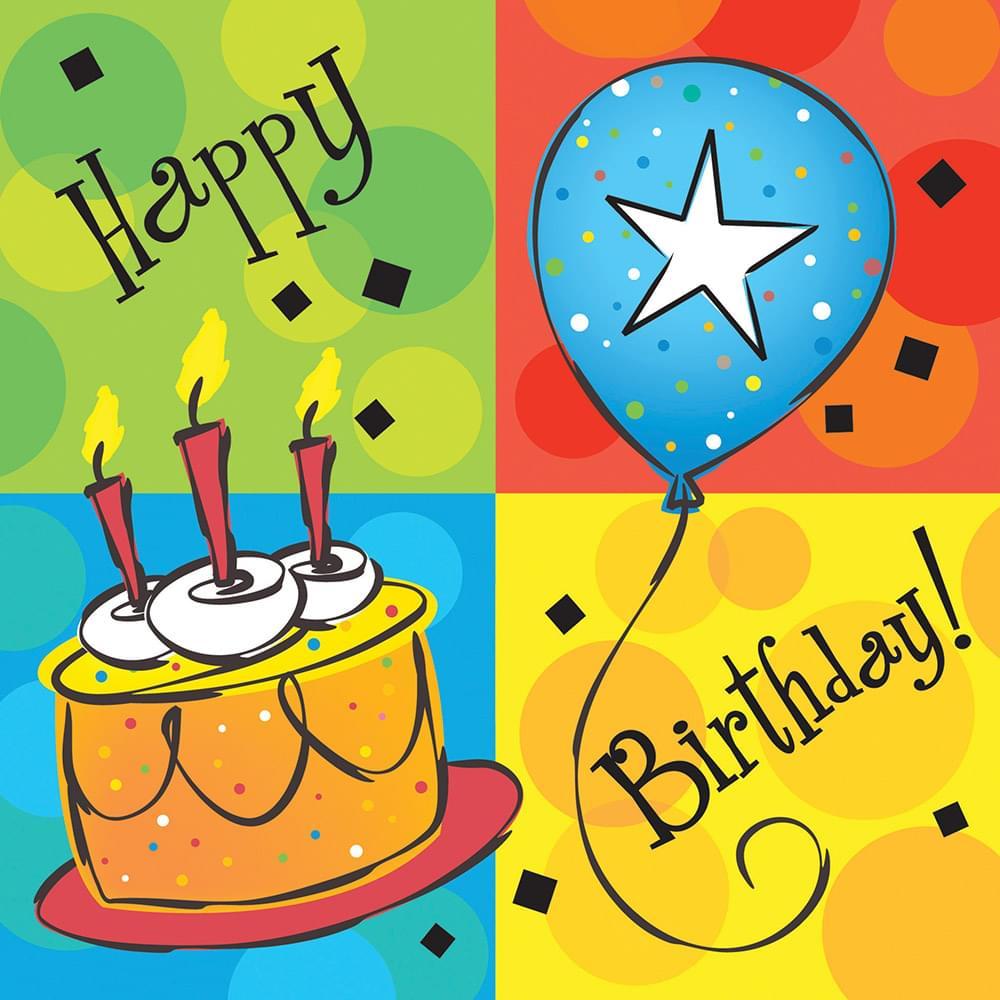 16 Pack Beverage Napkins Cake Celebration