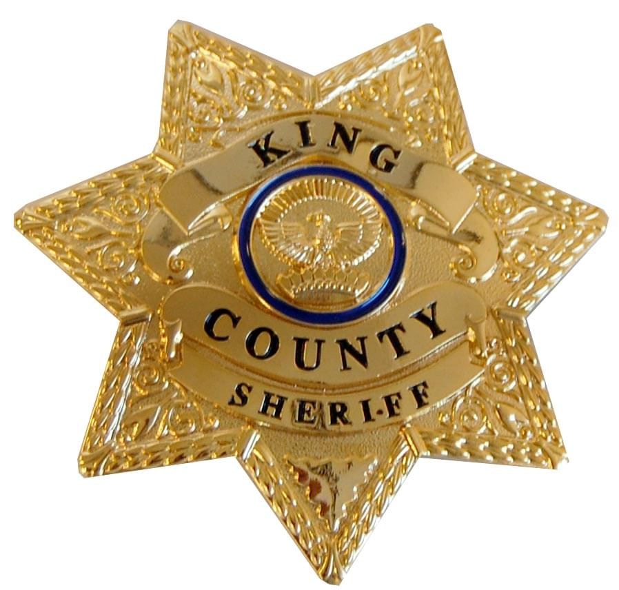 The Walking Dead King County Sheriff Prop Replica Brass Metal Badge