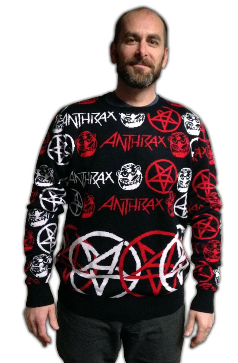Anthrax Adult Christmas Sweater Large