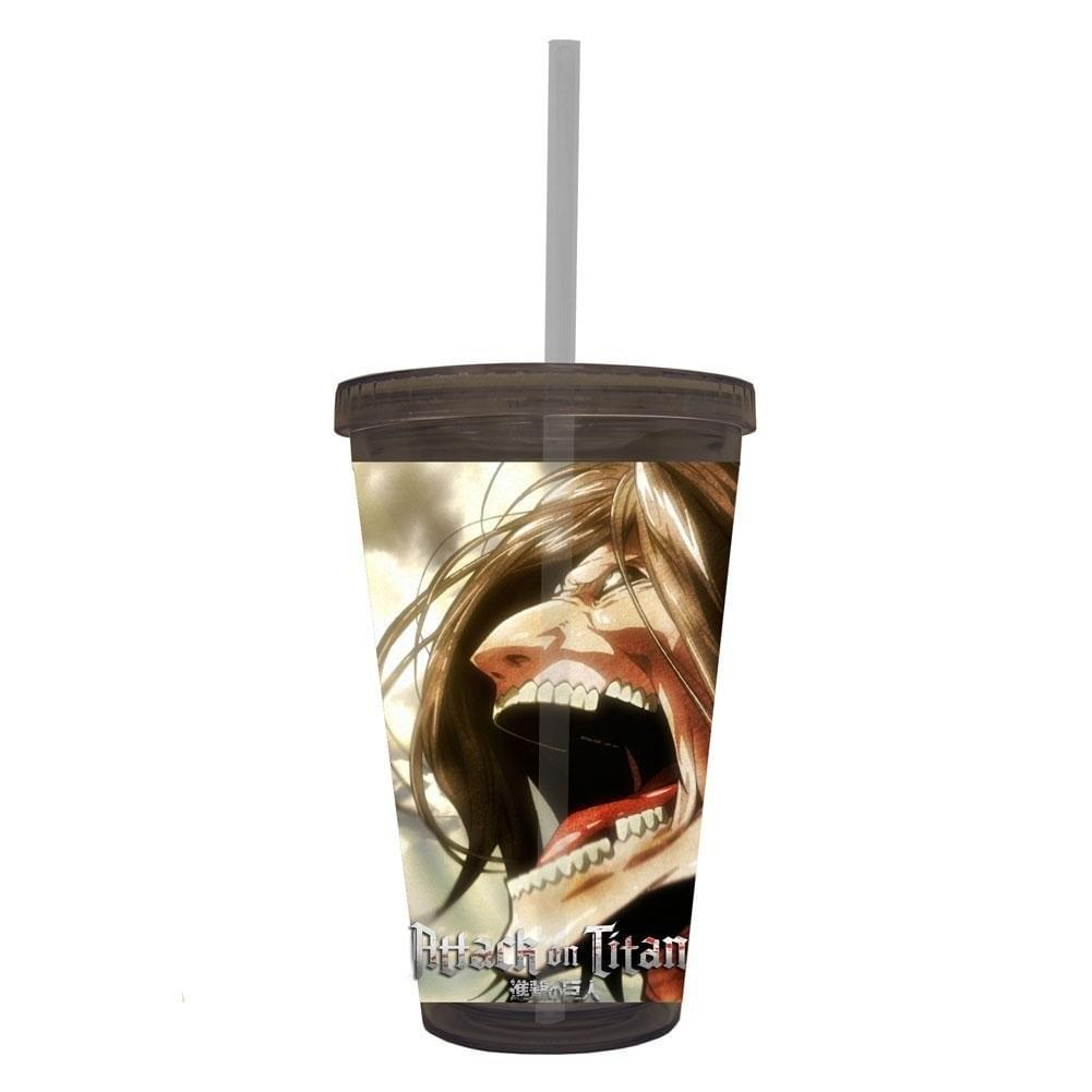 Attack On Titan  Screaming 16oz Travel Cup