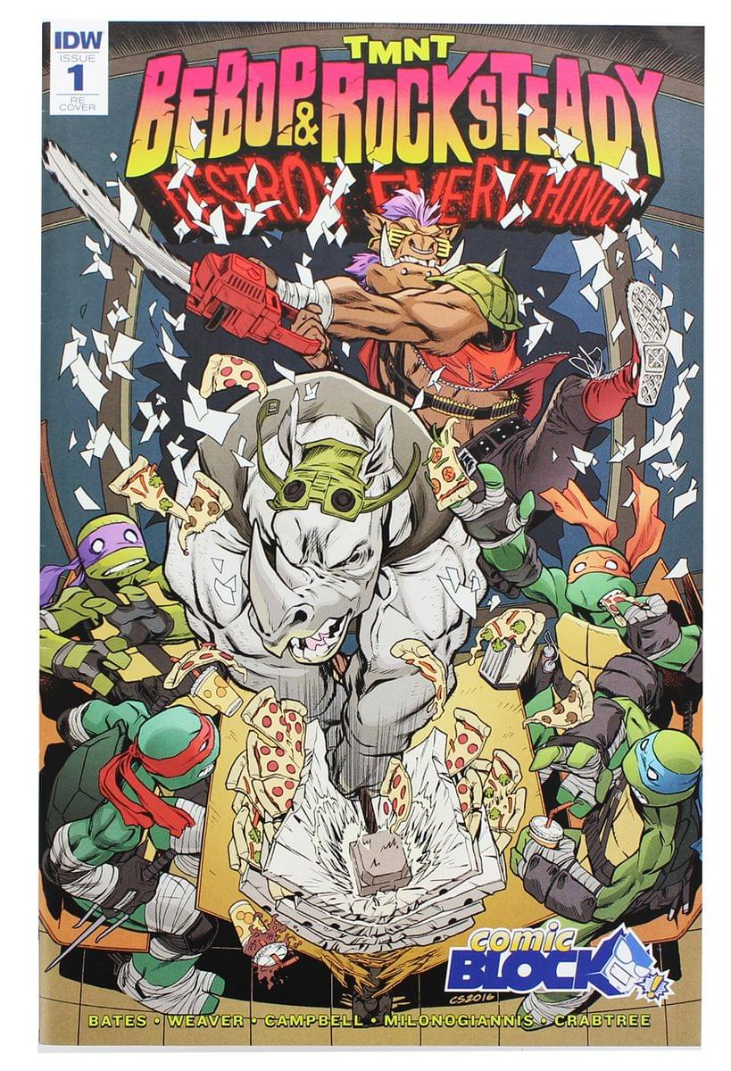 TMNT: Bebop & Rocksteady Destroy Everything #1 (Comic Block Exclusive Cover)