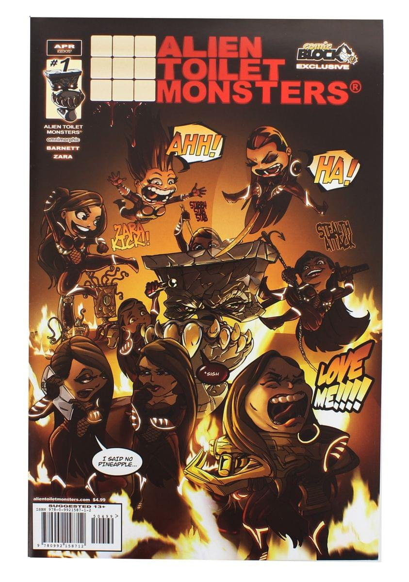 Alien Toilet Monsters #1 (Comic Block Exclusive Cover)
