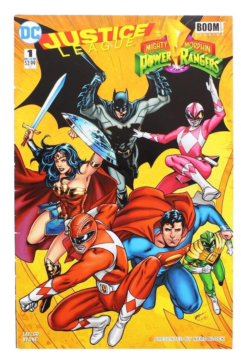 DC Justice League/Power Rangers #1 (Nerd Block Exclusive Cover)