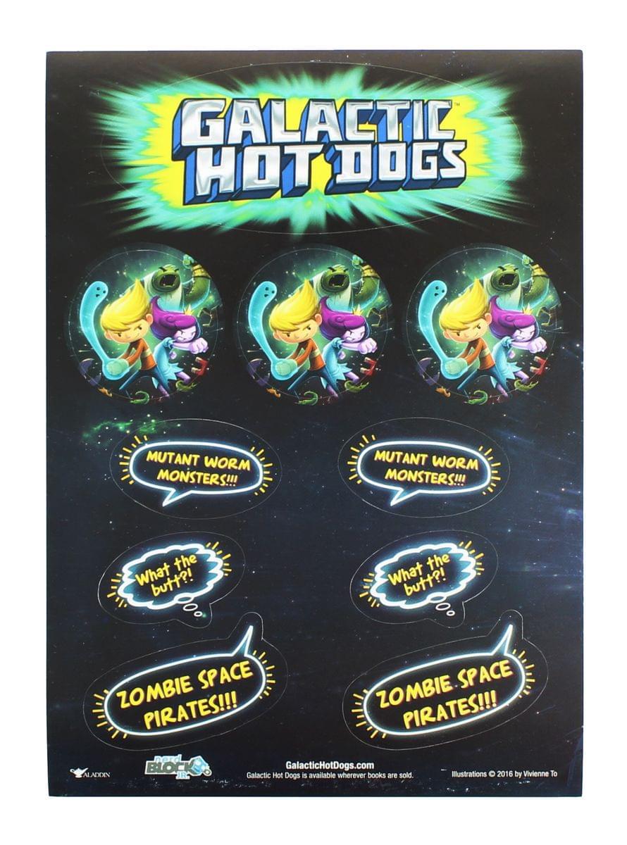 Galactic Hot Dogs Nerd Block Jr. Exclusive Stickers