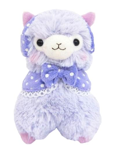 Alpaca Llama 7?Purple Plush w/ Earmuffs