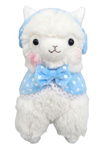 Alpaca Llama 7?White Plush w/ Earmuffs