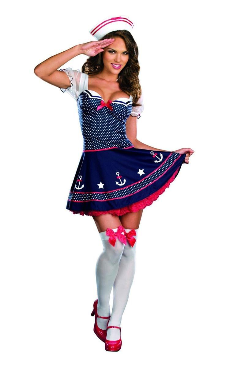Click Thumbnails to Enlarge  sc 1 st  eBay & Ship Happens Sexy Sailor Costume Dress Adult Large 10-14 ...