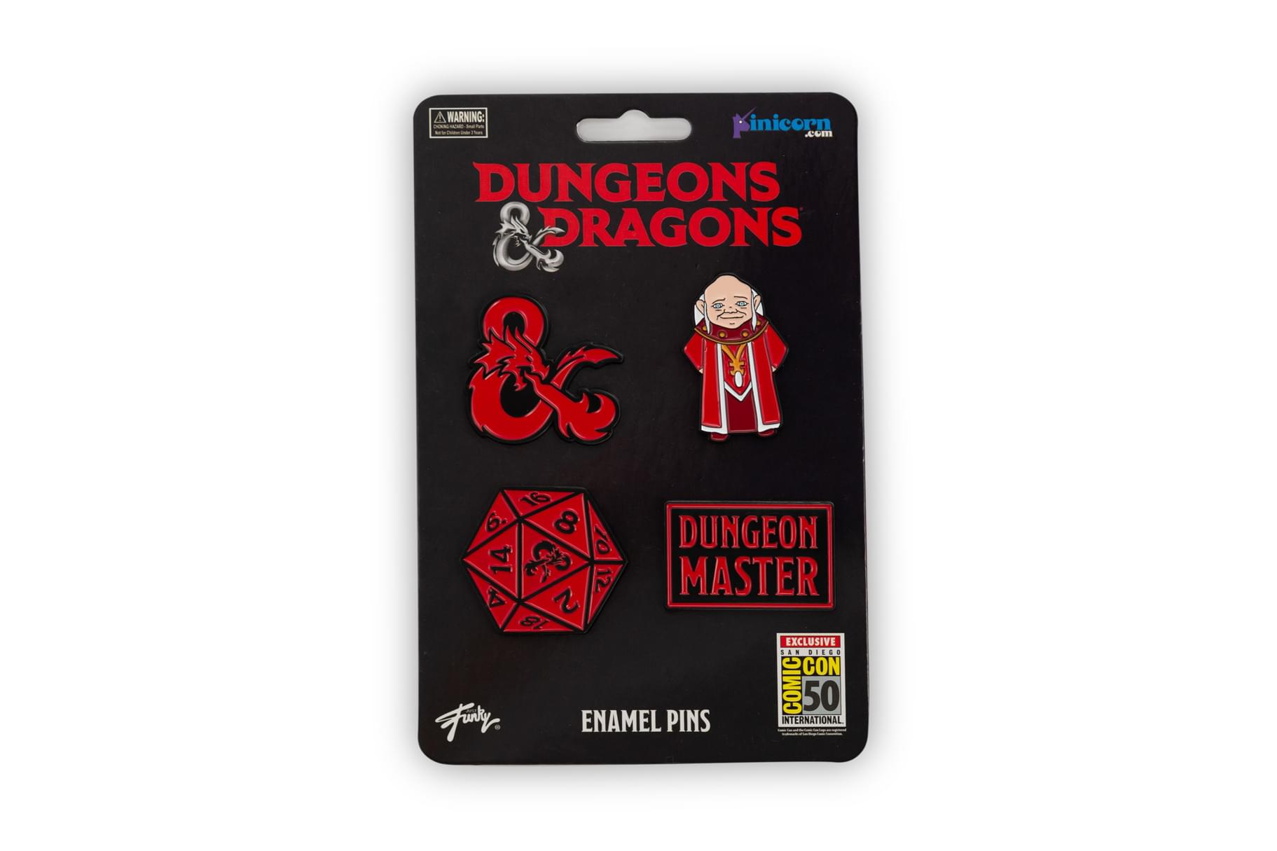 Dungeons & Dragons Enamel Pin Set | Exclusive Collectors Series Pins | Set of 4