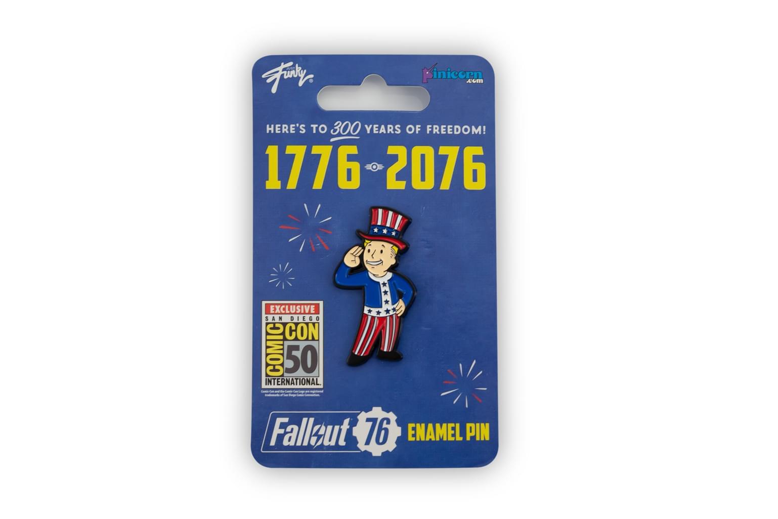 Fallout 76 Tri-Centennial Celebration Pin | Uncle Sam Vault Boy Enamel Pin