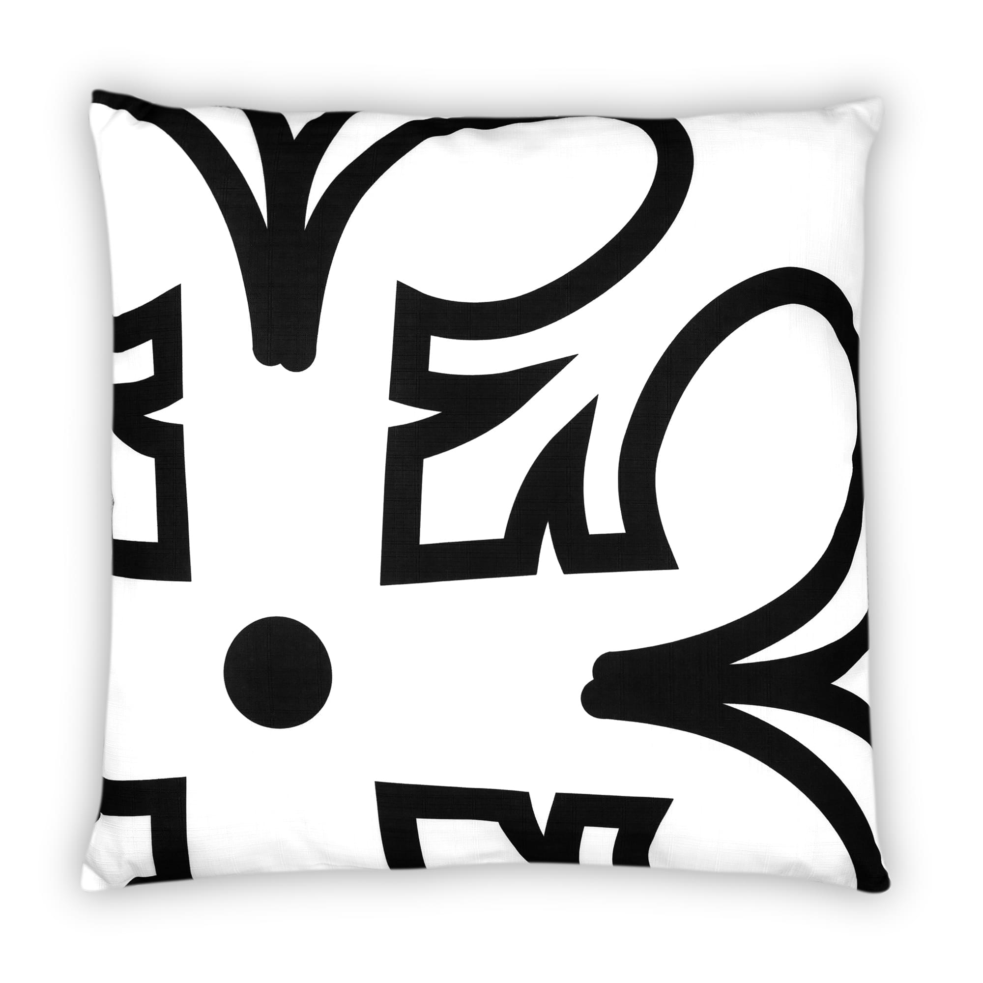 Star Wars White Throw Pillow | Black Rebel Insignia Pattern | 25 x 25 Inches