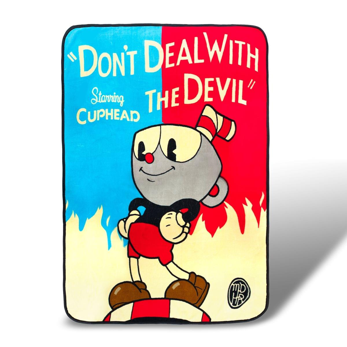 Cuphead Don't Deal with the Devil Lightweight Fleece Blanket | 45 x 60 Inches