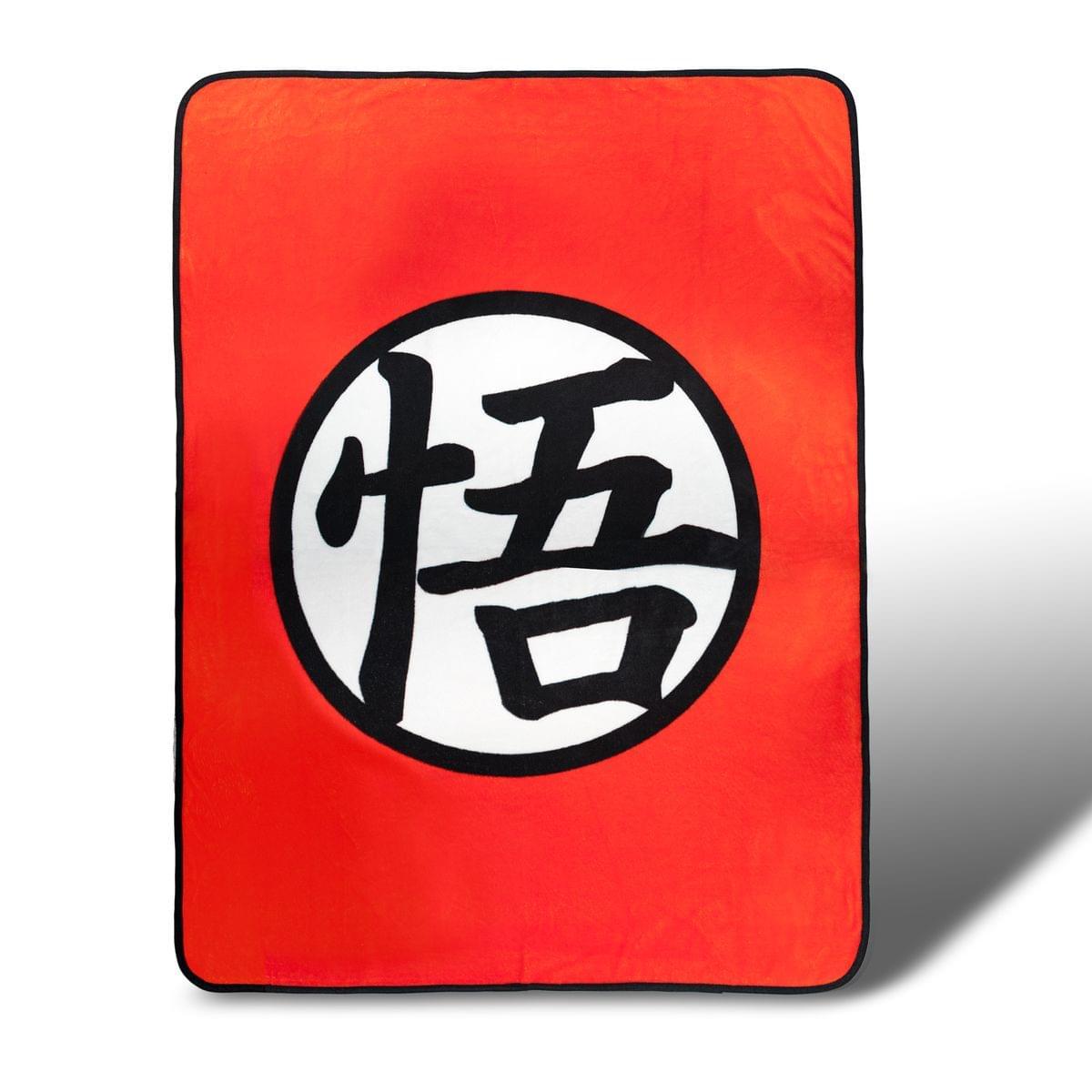 Dragon Ball Z Custom Goku Symbol Lightweight Fleece Blanket | 45 x 60 Inches
