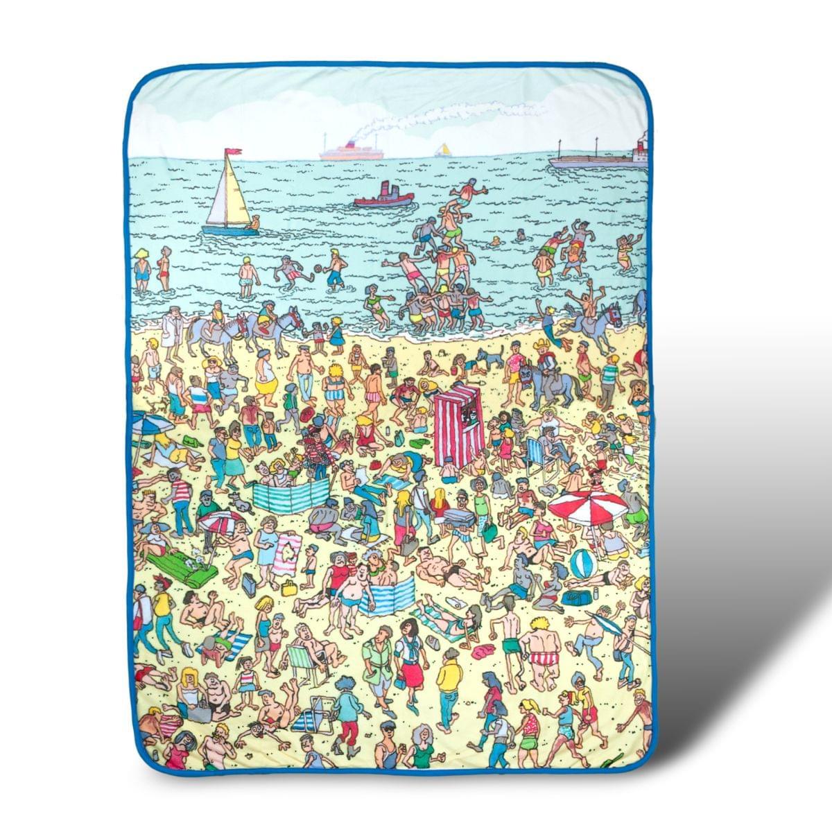 Where's Waldo On The Beach Lightweight Fleece Throw Blanket | 45 x 60 Inches