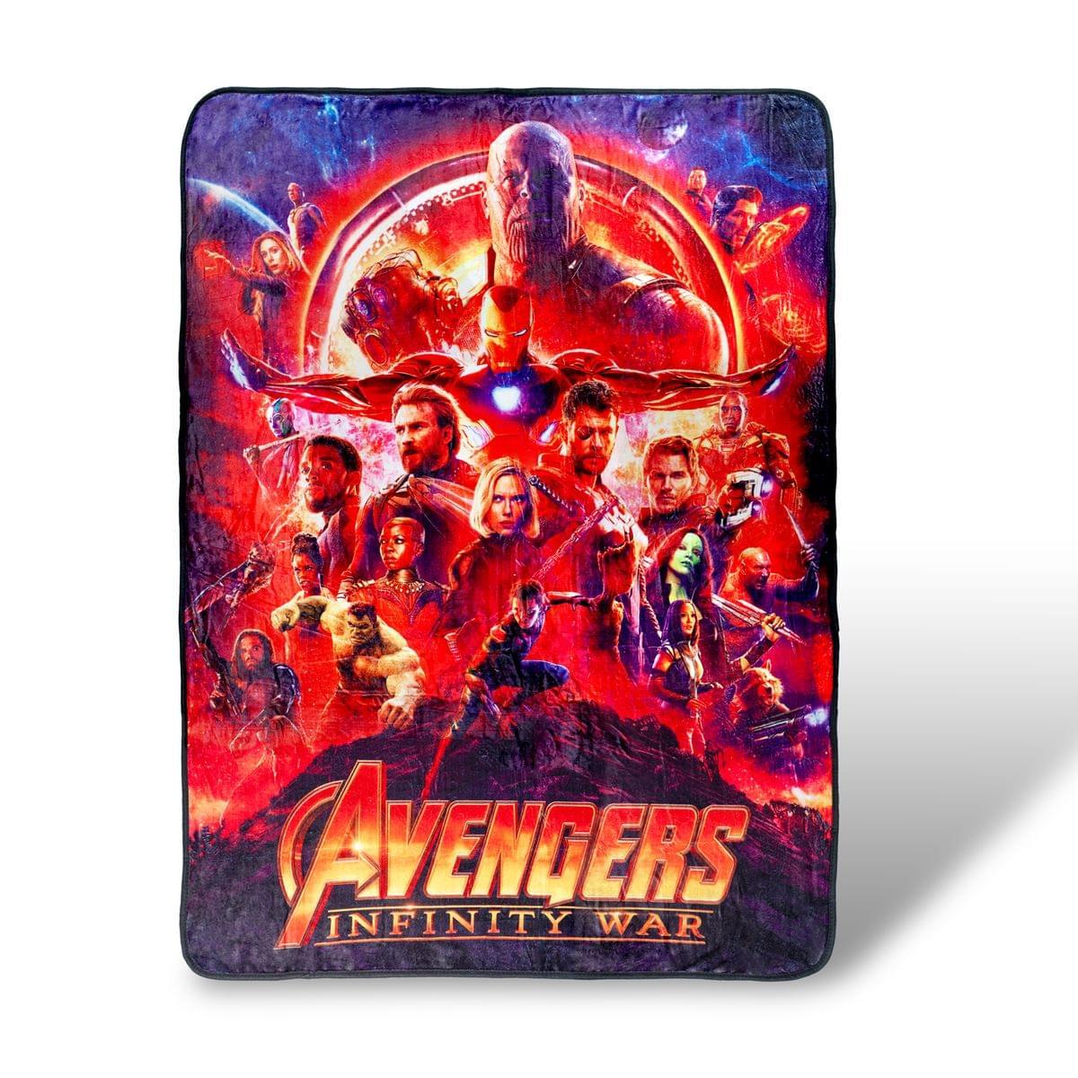 Avengers Infinity War Lightweight Fleece Throw Blanket| 45x60 Inches