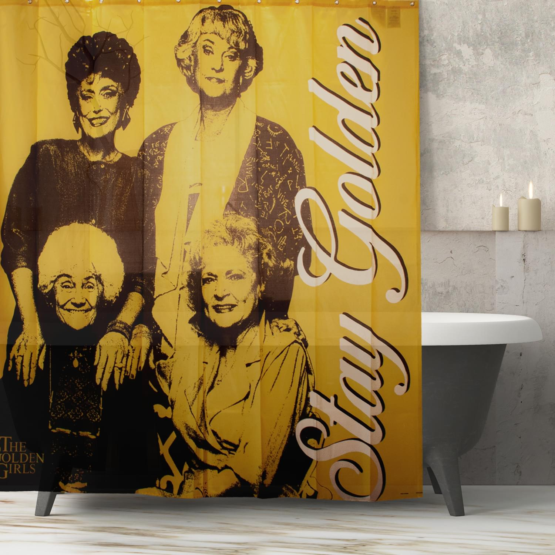 Golden Girls Collectibles   Golden Girls Stay Golden Shower Polyester Curtain