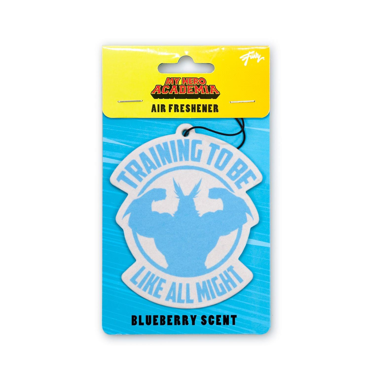 OFFICIAL My Hero Academia Air Freshener | Features All Might | Blueberry Scented