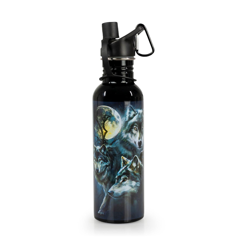 Wolf Collage 28oz Metal Water Bottle