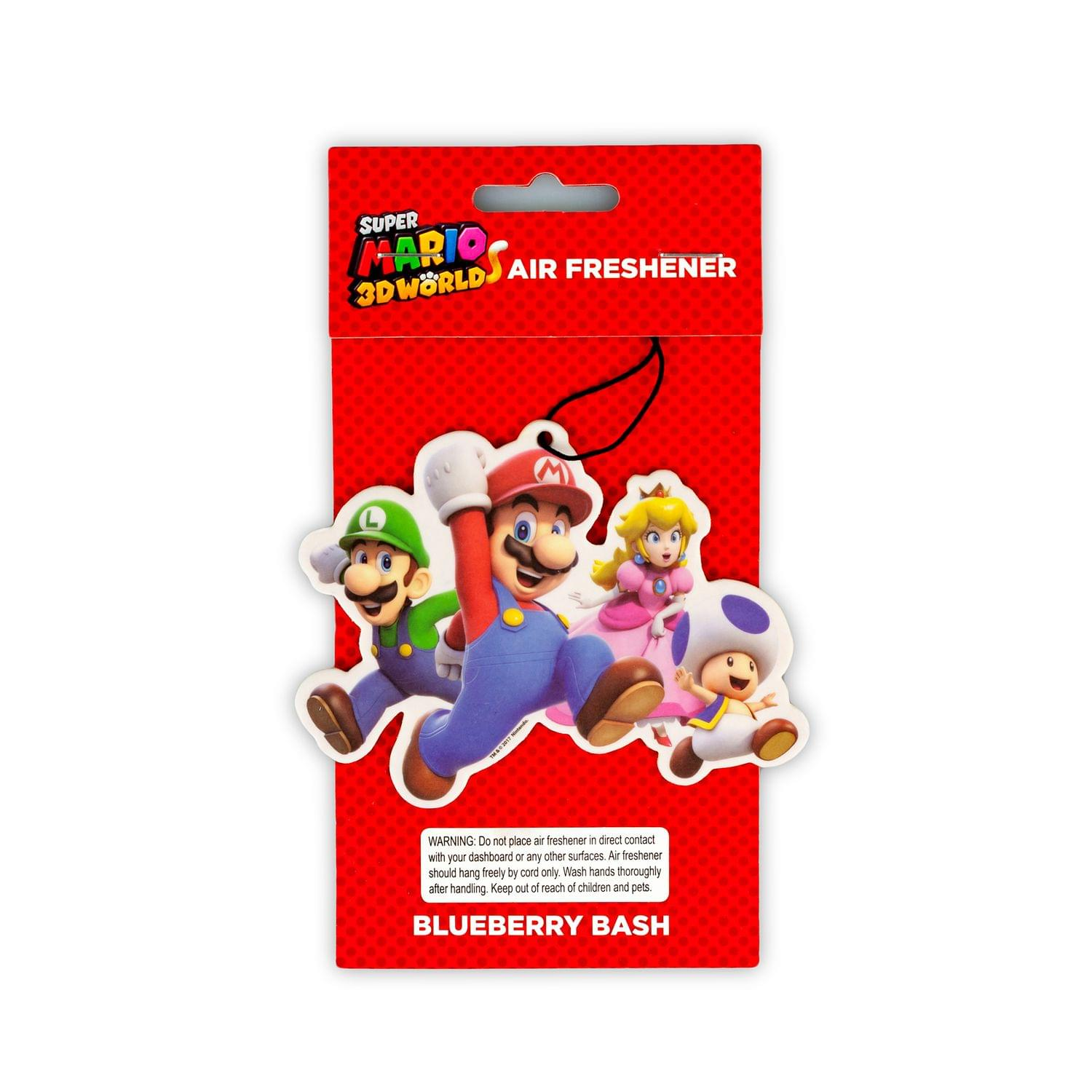 Super Mario Group Air Freshener | Licensed Nintendo  Accessory - Blueberry Scent