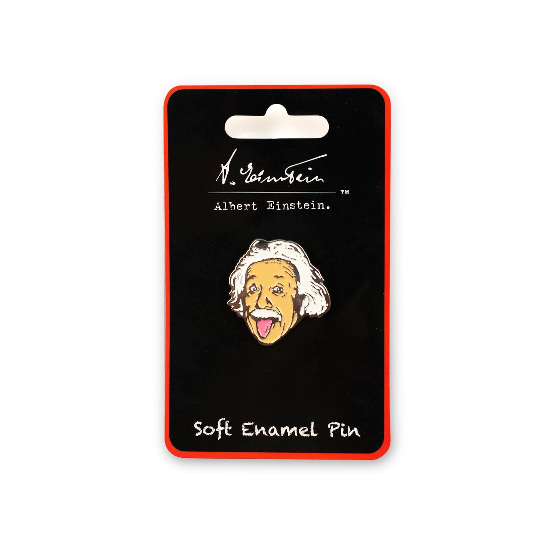Albert Einstein Tongue Out Enamel Pin | Official Einstein Collectible Poster Pin