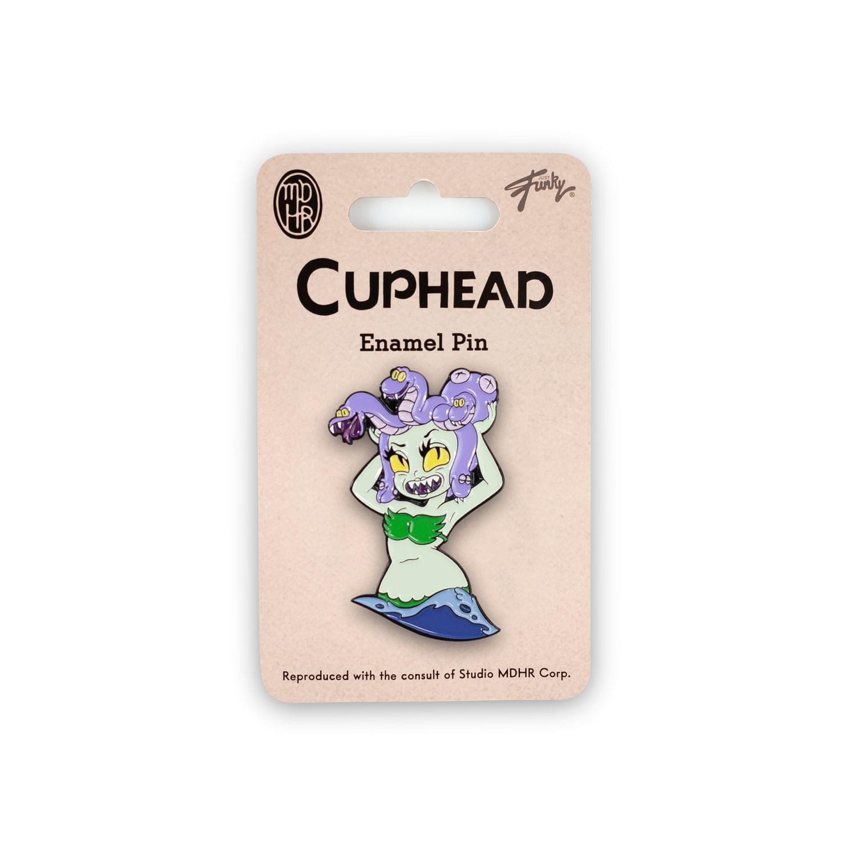 Cuphead Collectibles| Exclusive Cuphead Medusa Enamel Collector Pin