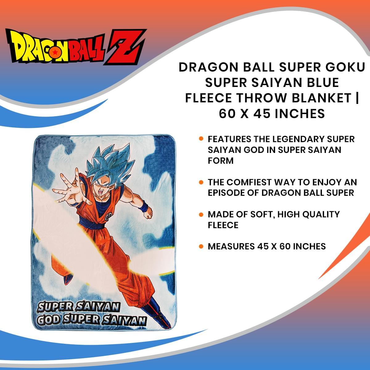 Dragon Ball Super Goku Super Saiyan Blue Fleece Throw ...