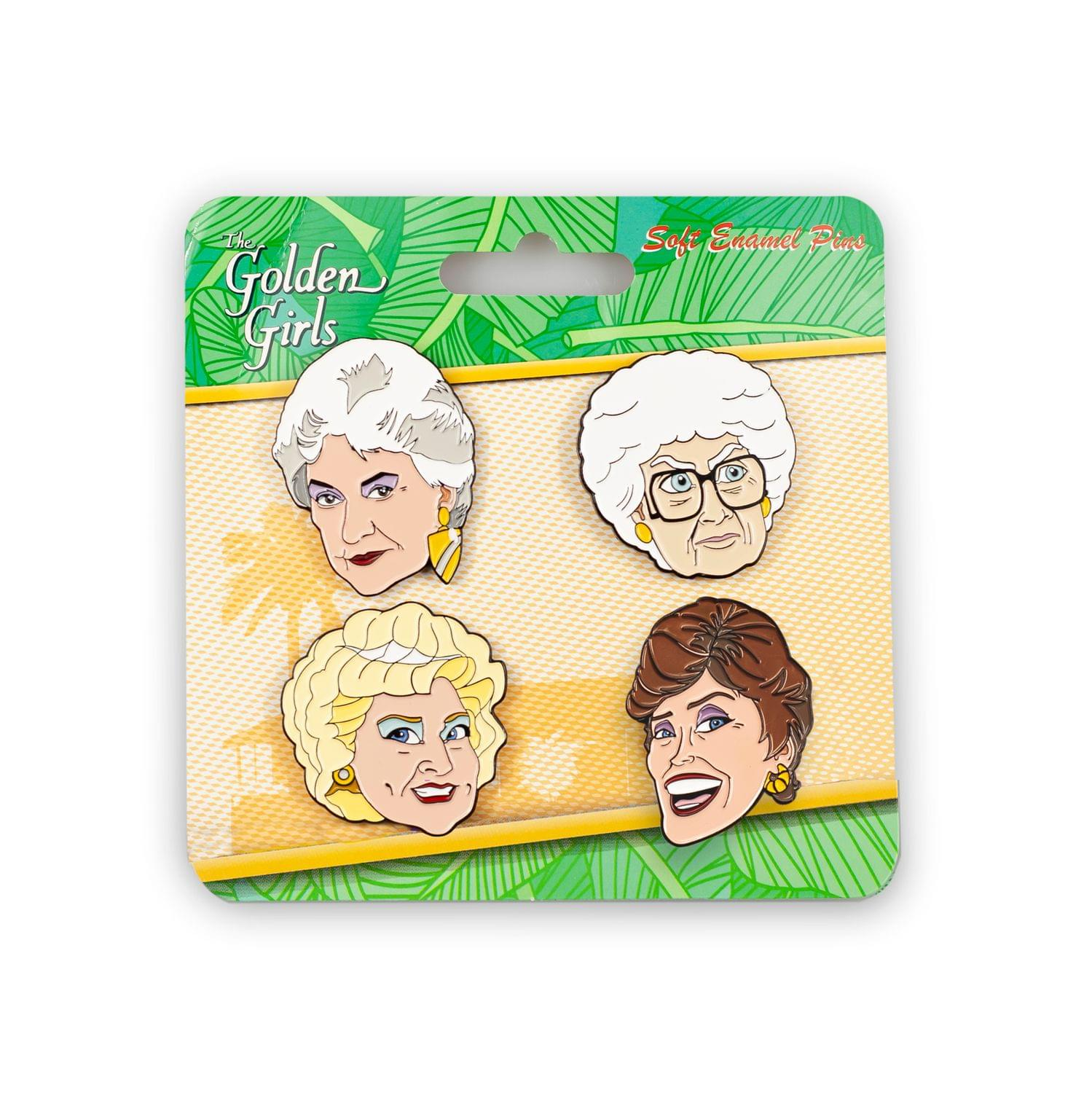 Golden Girls Collector Enamel Pin Set, 4 Pieces
