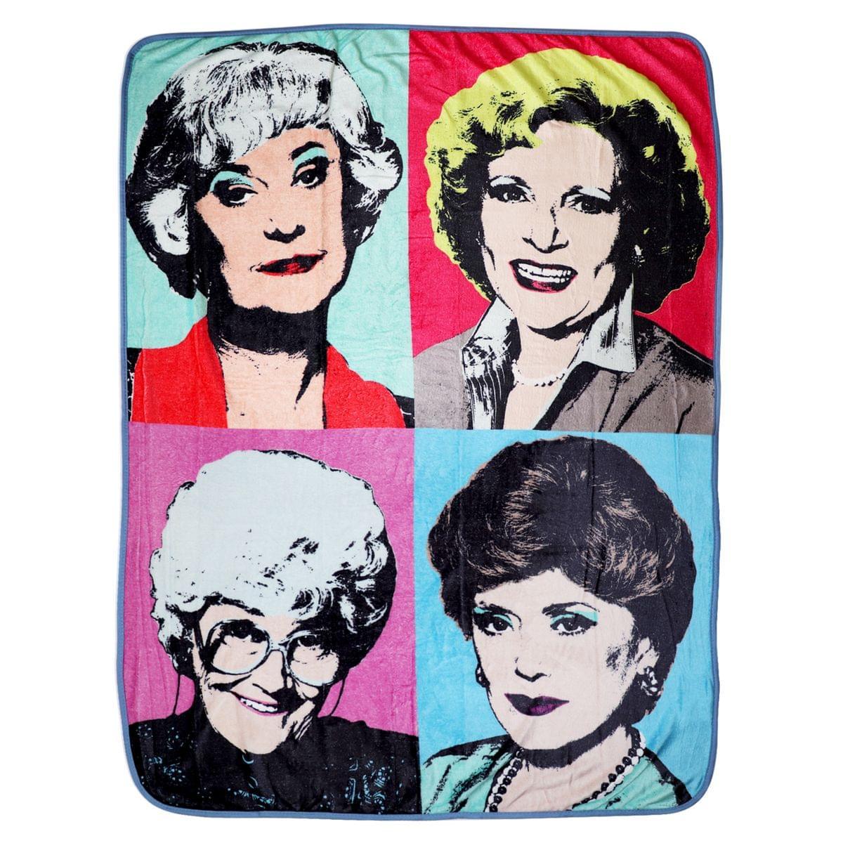 Golden Girls Warhol Fleece Blanket Comforter | 45