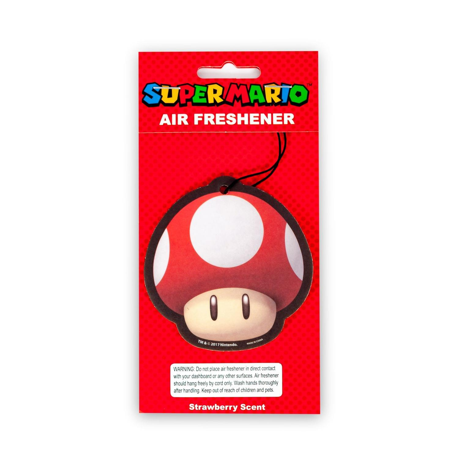 Super Mario - Toad Air Freshener | Licensed Nintendo Accessories - Strawberry