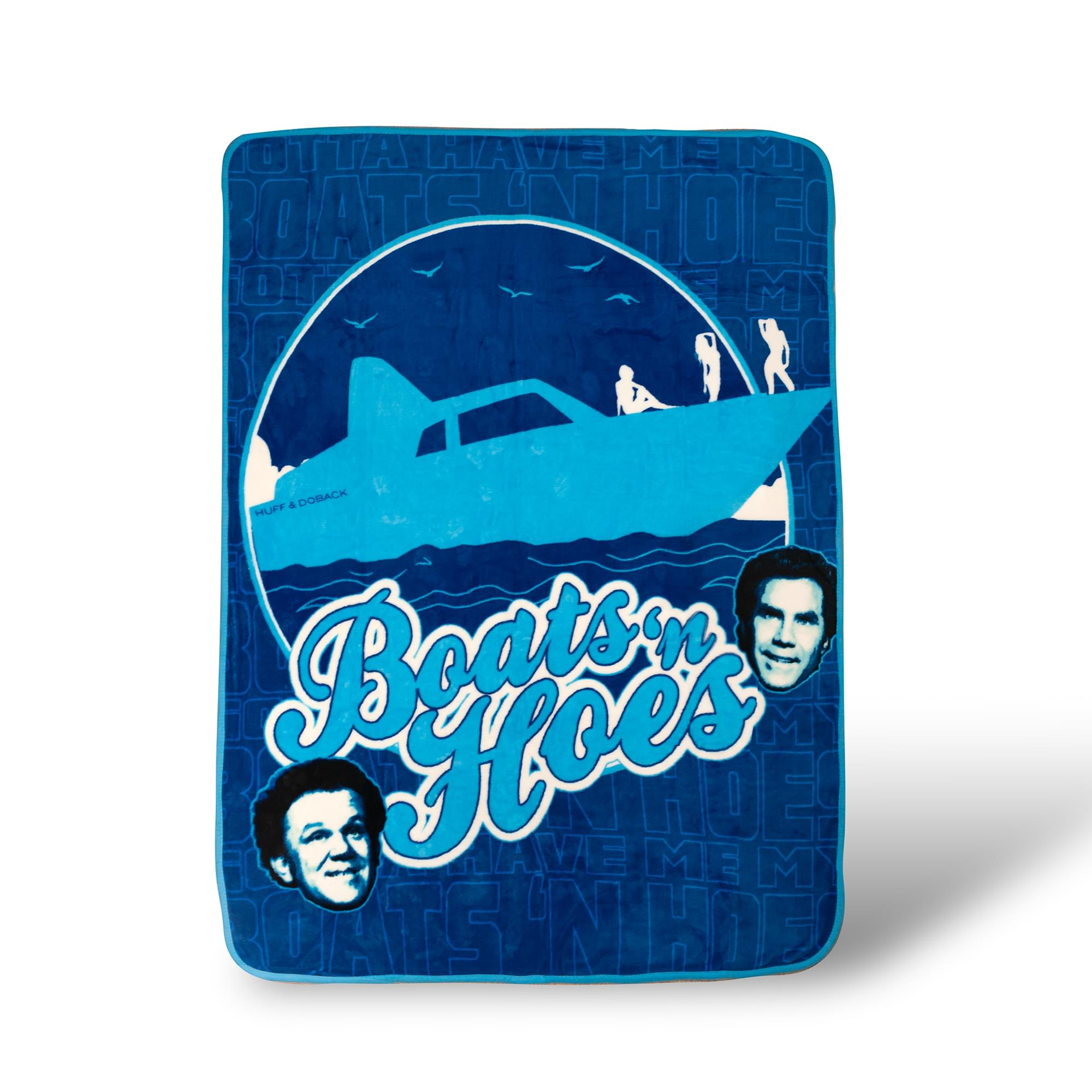 Step Brothers Boats 'N Hoes Throw Blanket | Soft Micro Plush | 45 x 60 Inches