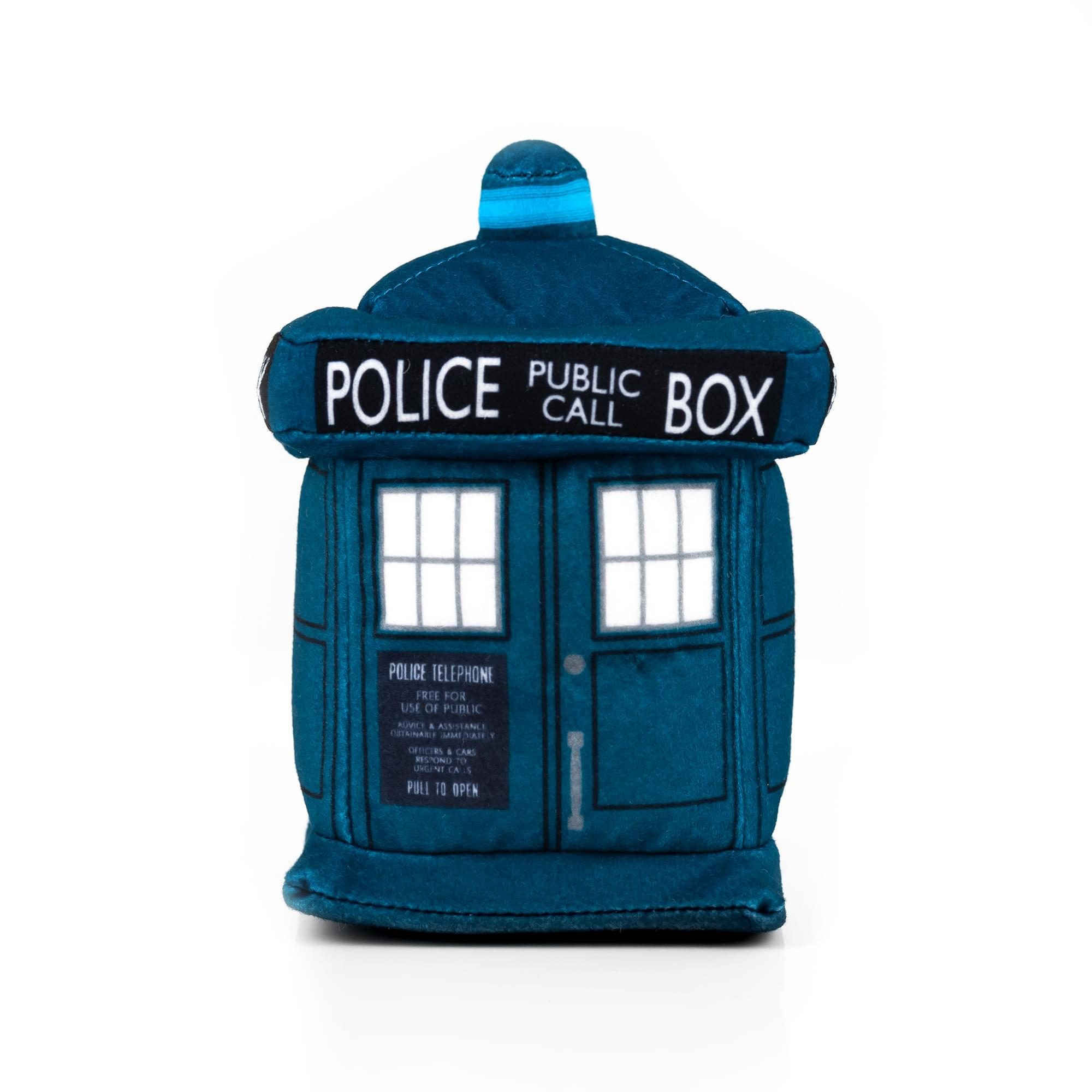 Doctor Who 4.5 Inch Plush TARDIS and 13th Doctor Enamel Collector Pin