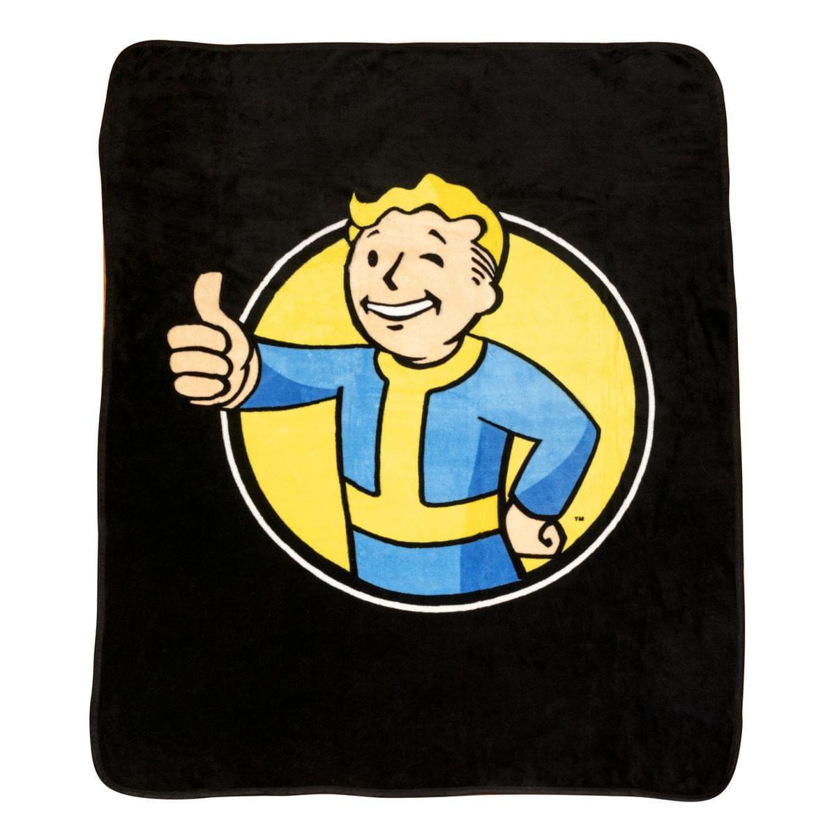 Fallout Vault Boy Lightweight Fleece Throw Blanket | 45 x 60 Inches