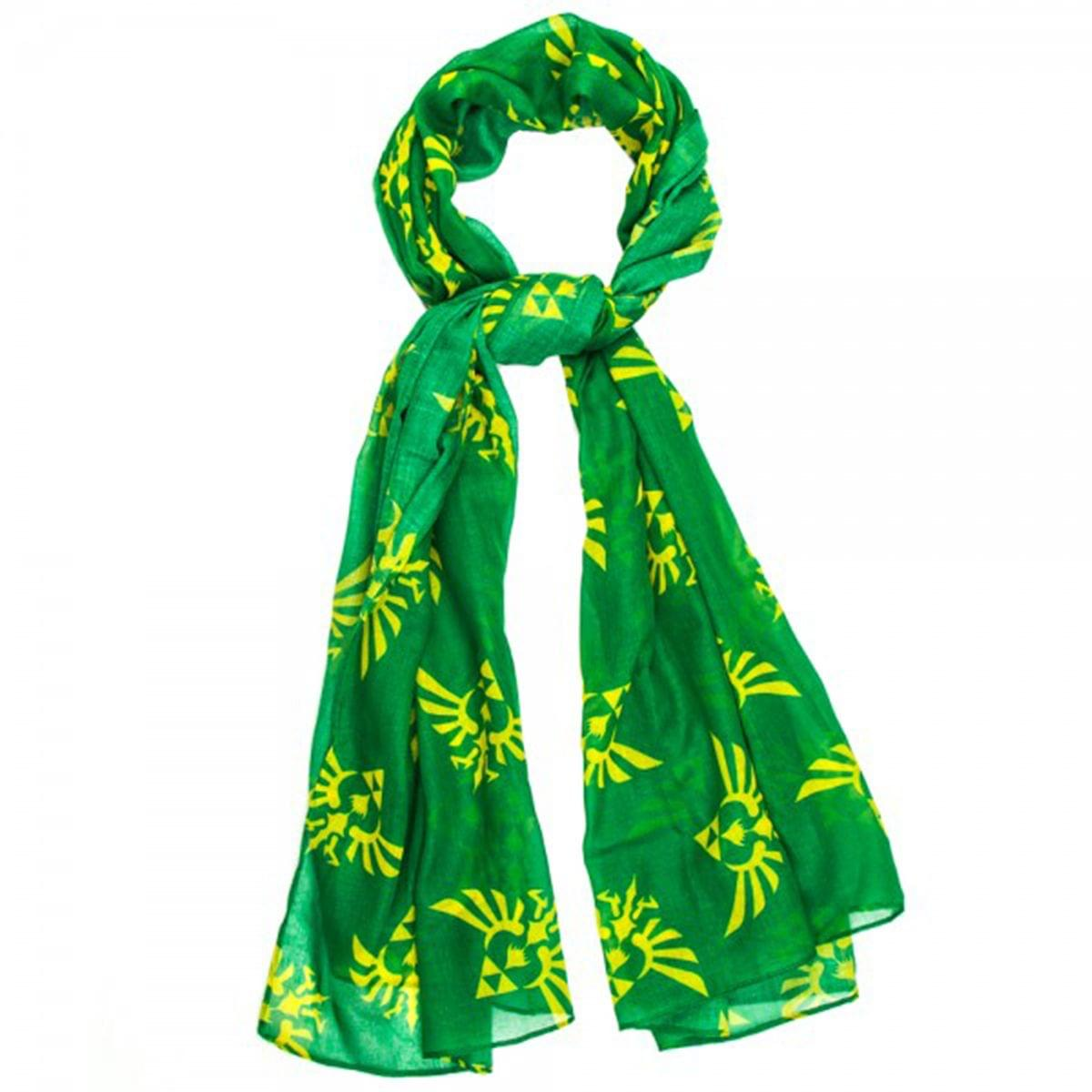 Legend of Zelda Triforce Logo Yellow/ Green Viscose Scarf