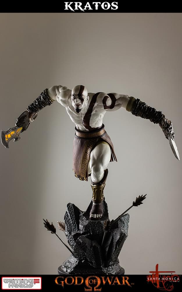 Details about God of War: Lunging Kratos 1/4 Scale Statue