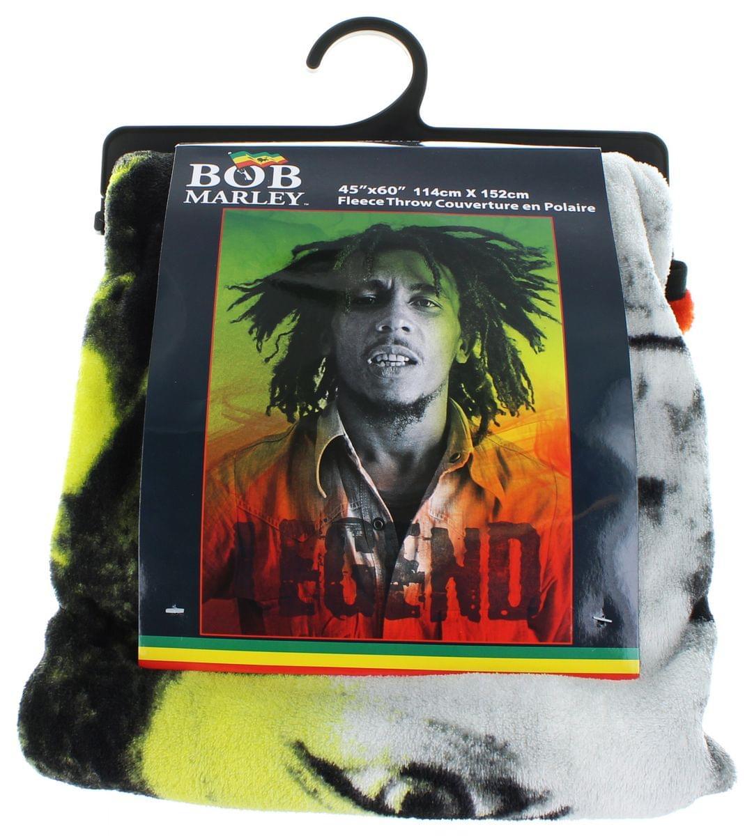 Bob Marley Legend Lightweight Fleece Throw Blanket | 45 x 60 Inches