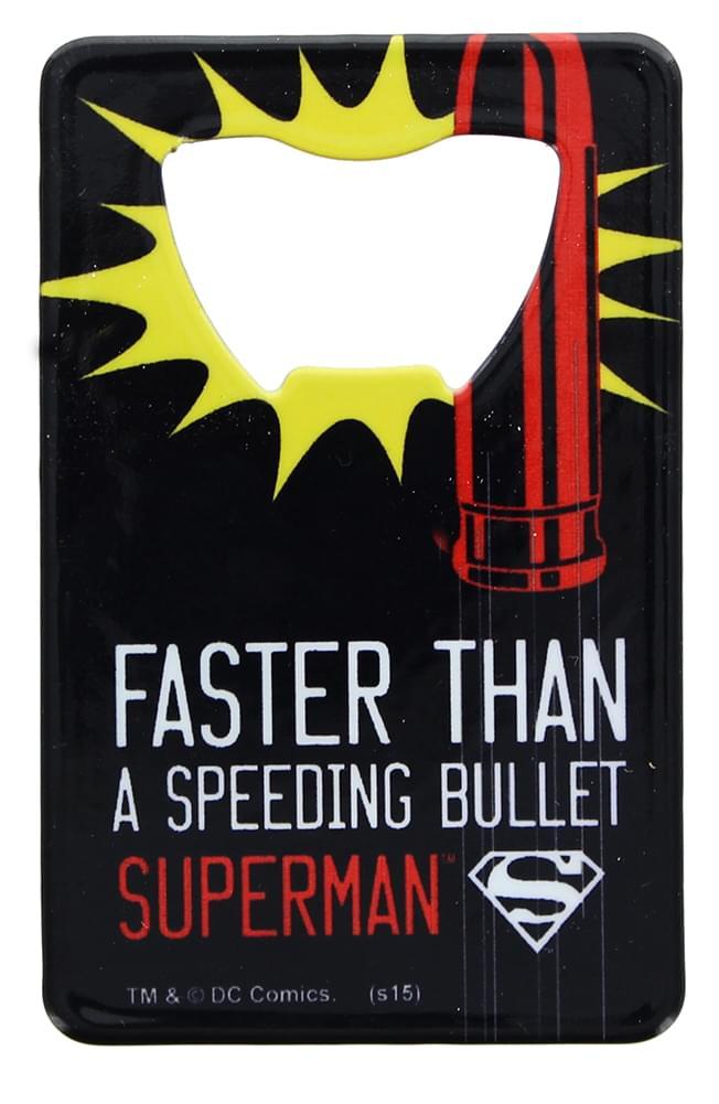 DC Comics Superman Pop Art Credit Card Bottle Opener