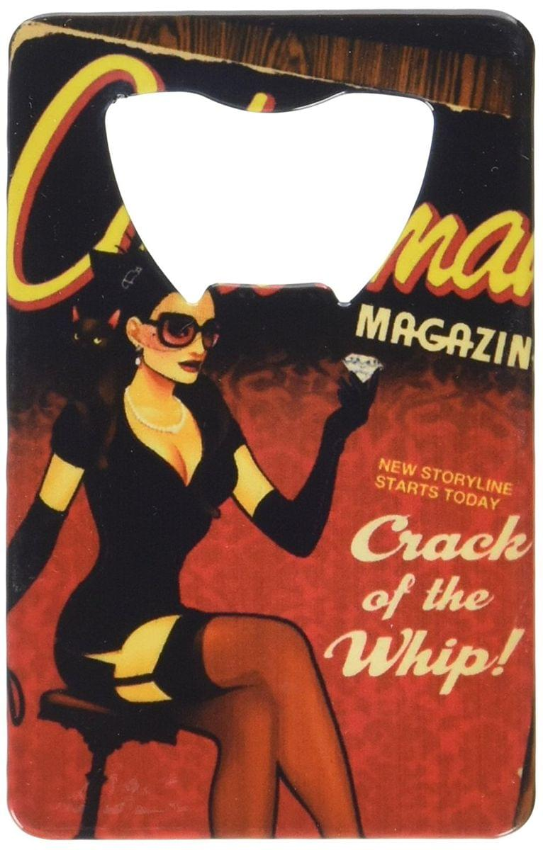 DC Comics Bombshells Catwoman Cover Credit Card Bottle Opener