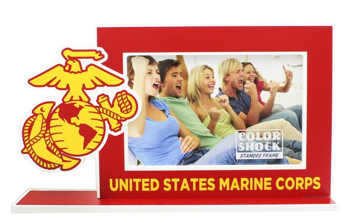 "U.S. Marine Corps Color 4""X6?Shock Standee Picture Frame"