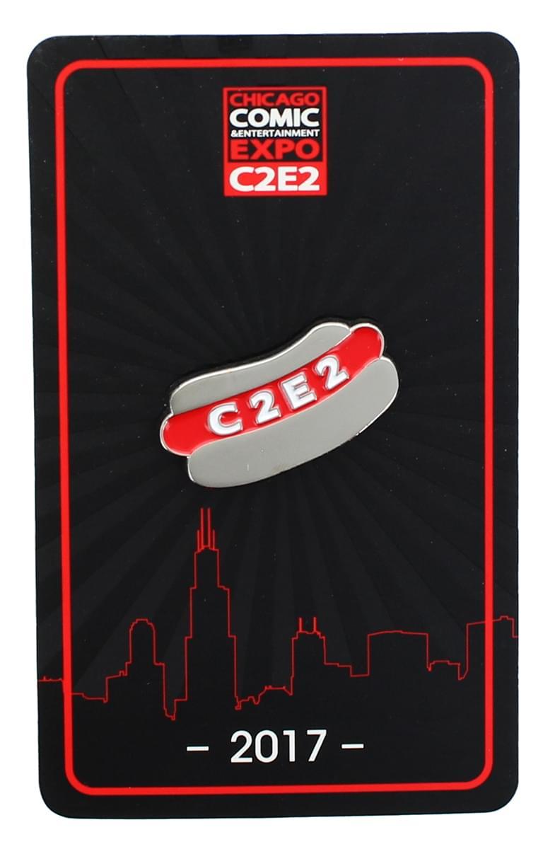 C2E2 2017 Hot Dog Enamel Collector Pin