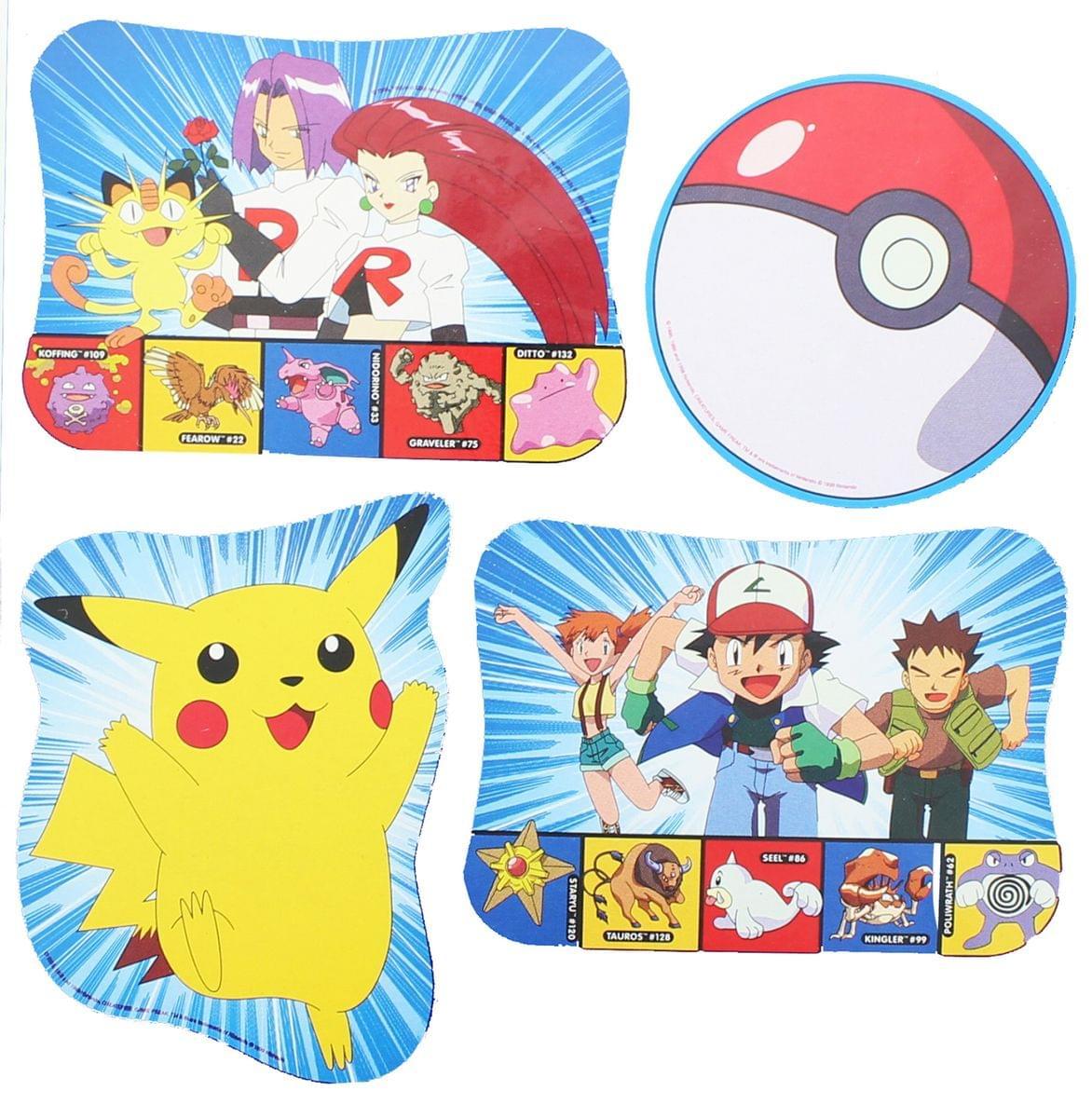 4 Pokemon Pikachu Print Decorations Party Supplies