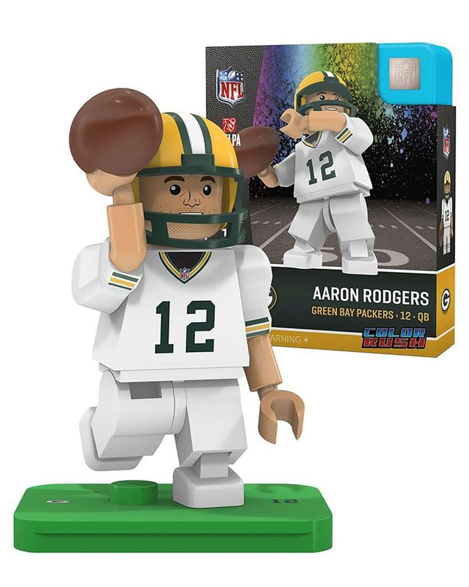 green bay packers aaron rodgers color rush nfl oyo minifigure 888914096261 ebay. Black Bedroom Furniture Sets. Home Design Ideas